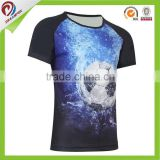 Wholesale all over dye sublimation printing t shirt, custom polyester print sublimation t shirts