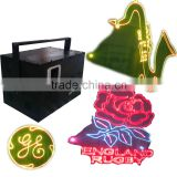 6W dj equipment Christmas party yellow animation laser light