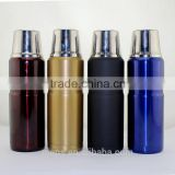 Double wall stainless steel vacuum flask/bullet thermos flask/vacuum thermos with stainless steel cap