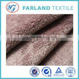 winter warm polar fleece blanket fabric solid color Sherpa fleece fabric for cloth upholstery fabric