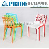 Colorful Cheap Plastic Dining Bistro Coffee Party Modern Stackable Beauty Restaurant Chair
