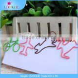 Eco-Friendly Office Supply Factory Produced Bicycle /Glasses/ Tooth/Cat/Bear/Animals Shaped Paper Clips
