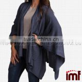 Chic Knitted Poncho Cape Shawl Wrap with Pockets                                                                         Quality Choice