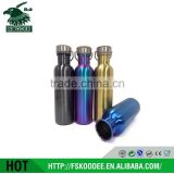 Wide Mouth Single Wall Stainless Steel Water Bottle With Bamboo Lid