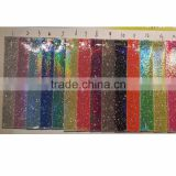 PU glitter artificial leather for garment laser shiny coated pu leather                                                                                                         Supplier's Choice