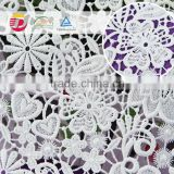 wholesale cheap 100 poly water soluble 3d flower guipure lace fabric                                                                         Quality Choice
