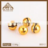 12mm Vintage Style Brass Metal Small Jingle Bell