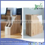 Bamboo office desk organizer Bamboo note paper box/bookends book/file box stand holder