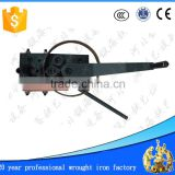 small manual wrought iron angle circle arc bending machine manual scroll bending machine