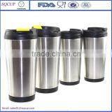 New product of stainless steel outer plastic inner coffee cup/tea cup/thermo travel tumbler