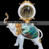 Modern Resin Elephant Clock Sculpture Home Decor