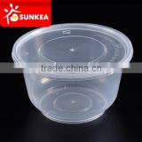 500ml PP plastic bowl hot food container, take out plastic container                                                                         Quality Choice
