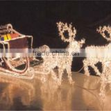 cotton ball string lights LED magic colour christmas lights for outdoor project/LED 3D motif christmas deer snowman