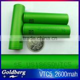 Top sale VTC5 2600mah original from Japan 18650 li-ion rechargeable battery cell us vtc5 battery pack