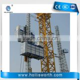 Single Double Cabin Construction Lifting Equipment Hoisting Material Lifter Material Electric Elevator