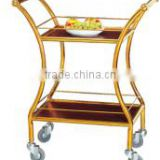 waist shape yiyongjia luxury wine liquor trolley cart stainless steel meat trolley