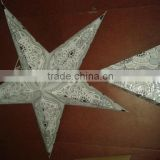 white printed indian paper stars
