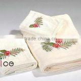 three pieces of business suite gift towel of embroidery cotton bath towel