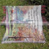 Export pastoral sofa towel blanket blanket thickened fringed tapestry