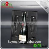 High quality wine bottle PS flock tray wholesale,PS flocking tray for wine holder,wine flocking tray