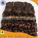Alibaba China Unprocessed Virgin Malaysian Hair Wefts Spring Curl Human Hair Extension