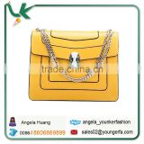 Wholesale Cheap Yellow Color Satchel Womens designer Leather Briefcase Satchel Bag Magnetic Closure Discount