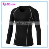 polyester spandex womens long sleeve yoga shirt sports t shirt gym wear womens compression shirt