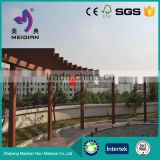 Anti-uv recycled WPC wood plastic composite pergola roof covers
