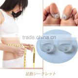 The hot sell bulk Lose weight toe rings Toe rings one foot ring digit magnetic slimming with silicone ring