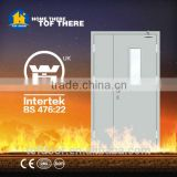 2 hours steel fire door with panic push bar