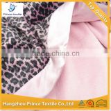 Grey Leopard With Pink Trimed 10pcs MOQ Baby Blanket