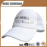 Wholesale Good Quality Custom Blank White Net Hat,Trucker Mesh Caps,Make America Great Again Caps And Hats