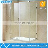 2016 Free standing Clear 6-10mm Tempered Glass Bathroom Frameless 2 Sided Hinged Glass Shower Enclosure Simple Shower Room Cabin                                                                         Quality Choice