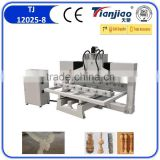Jinan Tinajiao 4 axis cnc router engraver machine china cnc router machine used axyz cnc router 8 spindles