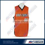 basketball jersey color orange sports jersey new model