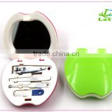 butterfiy shape of manicure set for travel cheap girls mini nail care nail pedicure manicure set