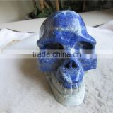 Natural stone lapis lazuli skull carvings Healing for gift