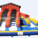 7mWx5.5mDx4mH inflatable water slide with pool inflatable water park with twin double slides with pool