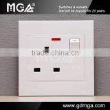 MGA A9 Series uk wall switch and socket&BS plug socket&european wall socket and switch
