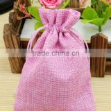 13x18cm Handmade Cotton Drawstring burlap Wedding Party Favor Christmas Gift Packaging Bags Pouches Jute Bags