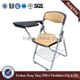 Top quality with adjustable arms student furniture folding chair(HX-TRC042)
