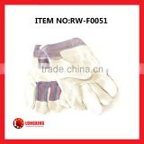 Factory Supply Hot-selling Half Leather Glove,Cow Split Leather Glove, Leather working Gloves
