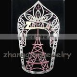 14'' Hot Eiffel Tower design large tall custom pageant crowns. sizes available