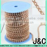 raw jewellry brass chain with pearl