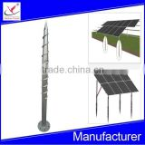 hot-dip galvanized ground screw pole anchor for solar panel
