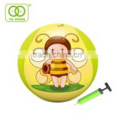 Inflatable cloth PVC bingo puffer ball with different pattern