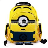 ODM Primary student Fashion Desgin school backpack Despicable Me Minion Children Backpack School Bag(YX-Z041)
