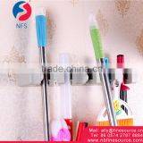 Wall Mounted 5 holes Plastic Mop And Broom Holder