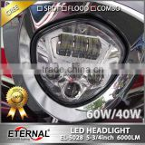hi 60W low 40W Victory headlight motorycle headlamp spot flood driving high power LED lamp replacement kit