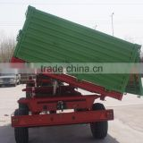 hot sale Euro style tractor use hydraulic 9Ton,heavy duty farm tipping trailer, rear and side tipping with CE